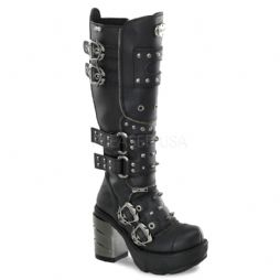 Costume Womens Multi Buckle Strap Knee Boots